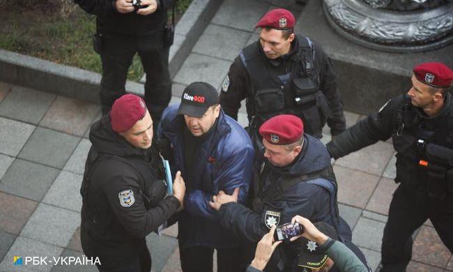 На митинге под Верховной радой произошла потасовка между ФОПами и силовиками